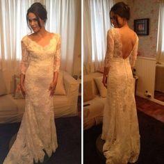 Fernanda Machado veste vestido de noiva assinado por Lethicia Bronstein