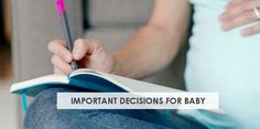 You may have a birth plan but have you thought about baby? Check out this guide to 14 important decisions to make for baby soon after birth.