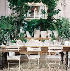 The Cream Event Los Angeles 2016 at Cooper Design Space (Green Wedding Shoes) Wedding Plants, Wedding Flowers, Wedding Bouquets, Plantas Indoor, Reception Decorations, Table Decorations, Unique Centerpieces, Centrepiece Ideas, Flower Centerpieces