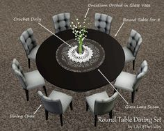 LilyOfTheValley's Round Table Dining Set...NICE 4 REAL LIFE