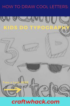 If you're hankering to expose your kids to design fundamentals, you'll like our article on how to draw cool letters, and teach your kids to do typography. As they're already learning how to write their names, get them interested in typography by having them doodle their names in various styles and colors. Bubble letters and 3-D writing are sure to grab their interest, and you'll soon have them scribbling away. Read our full article here. #DrawLetters #Typography #ArtProjects #ArtForKids Unique Wall Art, Diy Wall Art, Bubble Letters, Cute Diys, Art For Kids, 3 D, Art Projects, Doodles, Typography