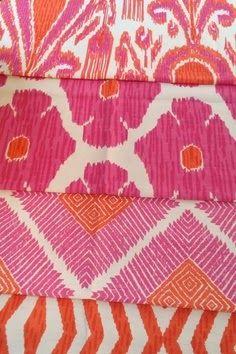 Batik-like pinks
