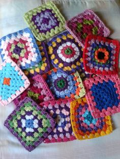 crochet  As a kid I would crochet large granny squares and give them away a coasters for Christmas gifts.