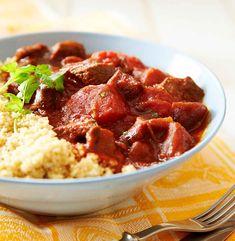 Lihapata x 4: parhaat reseptit   Meillä kotona Couscous, Chana Masala, Beef, Breakfast, Ethnic Recipes, Food, Essen, Meat, Morning Coffee