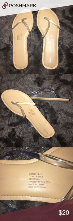 Gap flipflops with clear jelly strap Great pair of flipflops! I have only worn them a few times. GAP Shoes Sandals & Flip Flops