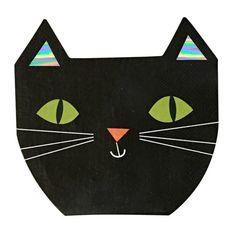 Meri Meri Die Cut Foiled Cat Napkin http://www.ocado.com