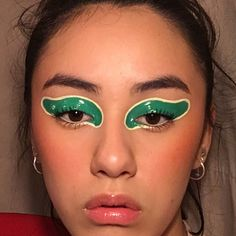 green glassy lids inspired by a bottle of cologne....
