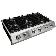 Electrolux Icon 36-in 6-Burner Gas Cooktop (Stainless) griddle and wok ring wish for $2000.