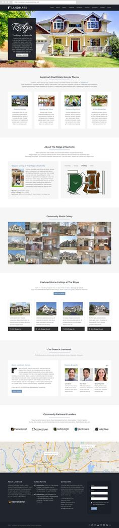 Landmark #Joomla Real Estate #Subdivision #Template. Built on Joomla 3 CMS, #responsive #webdesign for home builders, realtors, real estate agents, and more. #inspiration #onepage
