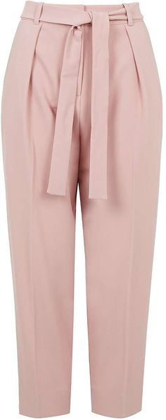 Classic trousers get a modern makeover with these tapered trousers. The tapered design sits high on the waist, adding a tailored look to your AW wardrobe. All Fashion, Pink Fashion, Fashion Ideas, Classic Outfits, Classic Clothes, Street Style Trends, Pink Pants, Blouse Styles, Trendy Dresses