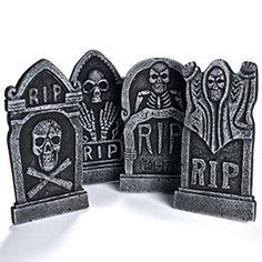 graveyard tombstone halloween decorations rip