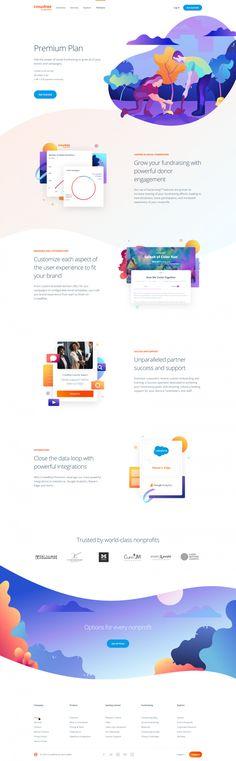peter_deltondo_unfold_crowdrise_by_gofundme_premium_plan_attachment.png by Peter Deltondo Website Design Layout, Web Design Tips, Website Design Inspiration, Web Layout, App Design, Website Designs, Best Landing Page Design, Card Ui, Le Web