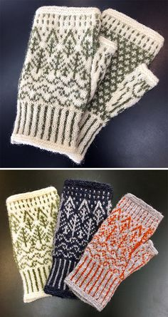 May 2019 - Free until May 2019 Knitting Pattern for Rain Shadow Mitts - Fingerless mitts with a stranded design of a mountain forest and stream in the rain and corrugated ribbed cuff. Knitted Mittens Pattern, Fair Isle Knitting Patterns, Knitting Charts, Knitting Machine, Hat Patterns, Daniel Herrera, Fingerless Gloves Knitted, Knitting Accessories, Mittens