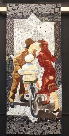 """Il Bacio"" by Angela Minaudo, Italy. 2015 Festival of Quilts (Birmingham, UK)."