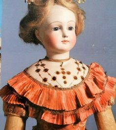 Antique Rochard French Bisque Jeweled Doll