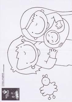 Kleurplaat Jozef en Maria/ Kerstverhaal Christmas Carnival, Christmas Yard, Christmas Nativity, Christmas Crafts For Kids, A Christmas Story, Christmas Printables, Simple Christmas, Coloring Pages For Kids, Colouring Pages