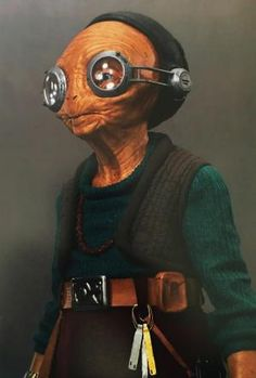 Maz Kanata maquette made for 'Star Wars: The Force Awakens'. Luke Fisher / Abrams Books / Lucasfilm Ltd. Maz Kanata, Dystopian Society, Abrams Books, Prop Making, For Stars, Good Movies, Science Fiction, Rebel Scum, Sith