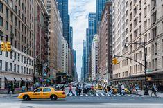 New York, Taxi, Street