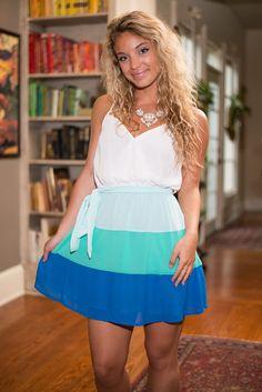 """""""Colorblock Three Times Dress, Mint"""""""