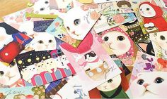 Korea Choo Choo Cat Postcard  10 Cards by StickerParadise on Etsy, $4.50
