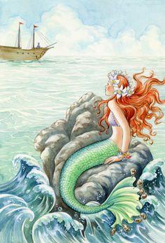 The Little Mermaid Mural - Barbara Lanza  Murals Your Way