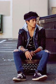 masculine korean style with headband