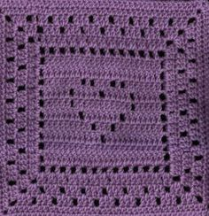 The Heart Inside Square - free crochet pattern.