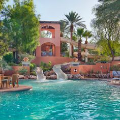 "Residents of Scottsdale and Phoenix are frequently asked, ""How do you survive the summer heat?"" The answer is simple: air-conditioning and swimming pools. We take our pools seriously in Arizona, and Scottsdale's resorts have elevated the simple swimming hole into sprawling aquatic playgrounds, with multi-storied slides, lazy rivers, kid-friendly splash areas, extreme sports and poolside bars. Most are well used for three-fourths of the year, only experiencing a slight drop in the winter…"