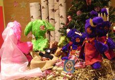 Création de la crèche de Noël à la boutique La Coccigrue (Paris 20)