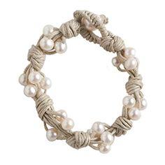 pearl + hemp bracelet