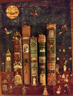 Illustration Book, Halloween Illustration, Book Spine, Book Sculpture, World Of Books, Book Aesthetic, Jolie Photo, Book Nooks, Whimsical Art