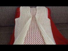 Tığ İşi Yelek Örneği Yapılışı ( istek üzerine) - YouTube Knit Baby Sweaters, Crochet Videos, Crochet Cardigan, Chrochet, Baby Knitting, Vest, Dresses, Women, Patterns