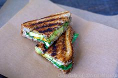 Toasted Cheese Sandwich with Avocado & Spinach