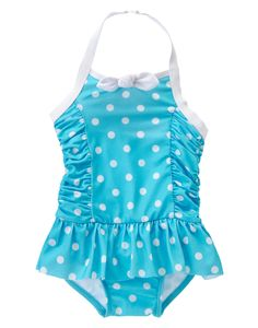 Polka Dot Skirted One-Piece Swimsuit at Gymboree (Gymboree 3m-5T)