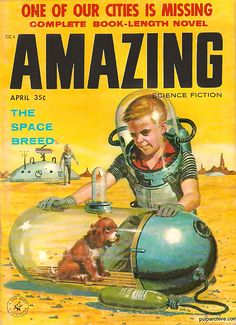 Puppy in a huge pill? Puppies in space, 1958