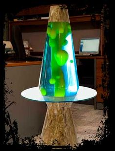 Gigantic lava lamp table