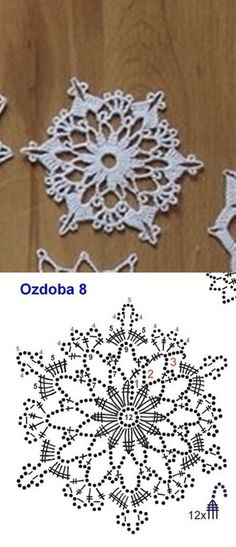 Mobile LiveInternet Knit for the New Year Crochet Snowflake Pattern, Crochet Stars, Crochet Snowflakes, Crochet Cross, Thread Crochet, Crochet Stitches, Crochet Diagram, Crochet Motif, Crochet Doilies