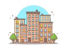 Beautiful Town, Buildings And Landmarks Icon Concept City Icon, Vector Icons, Easy Drawings, Design City, Doodles, Watercolor Ideas, Vector Freepik, Vector Design, Wallpaper