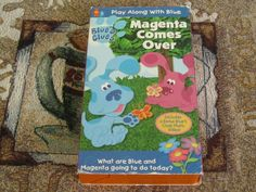 Blues Clues - Magenta Comes Over (VHS, for sale online Girls Channel, Blues Clues, Nick Jr, Vhs Tapes, Kids Videos, Theme Song, Kids Learning, Magenta, Friendship