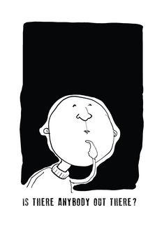 #blackandwhite #thinking #line #linocut