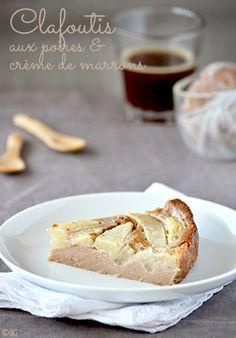 Clafoutis aux poires & crème de marrons