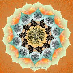 Fall Tree of Life Mandala by Beth Alexander