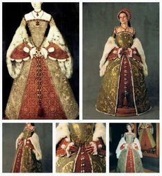 Costume based on the portrait of Catherine Parr by Master John , c. 1545.