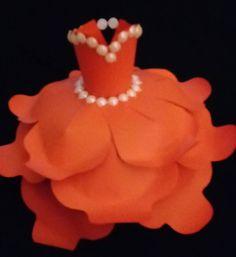 Orange Paper Dress by Beverly Gibbs!