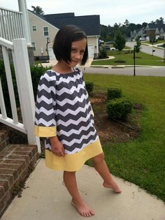 Adorable Chevron Dress by LisaandJane on Etsy, $34.95........moma make this for Emily....