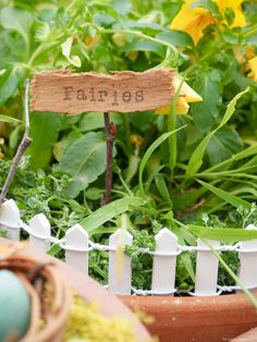 How To Make A Rustic Sign For Your Fairy Garden - The Magic Onions