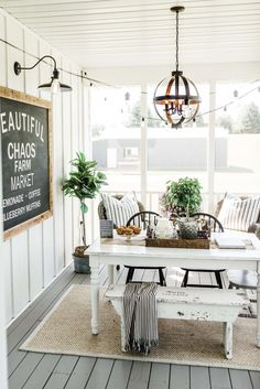 Beautiful Chaos Farmhouse Renovation Learn the story behind the Beautiful Chaos Farmhouse! This white farmhouse renovation is located in Independence, Minnesota. Farmhouse Renovation, Farmhouse Interior, Farmhouse Decor, White Farmhouse, Modern Farmhouse, Farmhouse Remodel, French Farmhouse, Vintage Farmhouse, French Country Rug