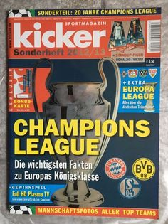 "kicker! SPORTMAGAZIN ! "" CHAMPIONS LEAGUE "" ! Sonderheft 2012/13 ! Neu !"