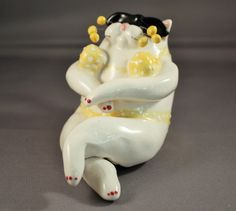 3 Lacombe Lot Annaco Creations Cat Figurines Swimsuits 2001 86134 | eBay