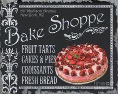 Bake Shoppe Painting  - Bake Shoppe Fine Art Print